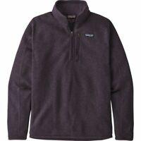 PATAGONIA Men's Better Sweater 1/4-Zip Fleece Jacket, Piton Purple, Large