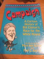 Bill Clinton - A Cartoon History of Bill Clinton's Race 4 White House plus PIN