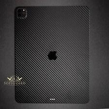 SopiGuard 3M Carbon Sticker Skin for 2020 Apple iPad Pro 12.9 4th Gen (A2229)