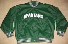 Steve & Barry's Michigan State Spartans Varsity Jacket Coat Green Jersey Men XL