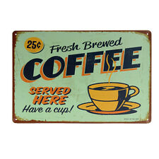 COFFEE Metal vintage style Tin Plaque Bar Decor Sign Wall Poster Tavern Decor 02