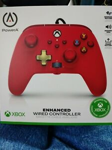 NEW PowerA Enhanced Wired Controller for Xbox - Red