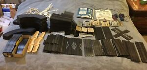 HO Aurora Large Track And Accessories Lot All Marked Model Motoring Slot Car