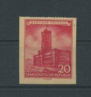 DDR 494 RATHAUS BERLIN 1955 DRUCKPROBE MASCHINPROBE PROOF ESSAY TEST PRINT h0902