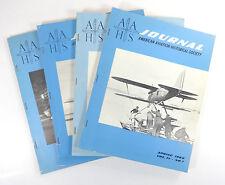 Lot (4) AAHS Journals v11 #1-4 1966; Vintage Illustrated Aviation; Softcover