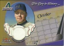 2002 Fleer Tradition Update This Day In History Game Used Jersey Curt Schilling