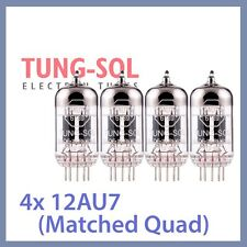 4x NEW Tung Sol 12AU7 Reissue TungSol Vacuum Tube ECC82, Matched Quad TESTED