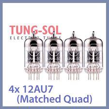 4x NEW Tung Sol 12AU7 Reissue TungSol Vacuum Tube ECC82, Matched Quad TESTED