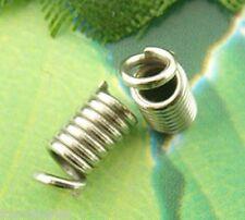 200 Embouts Ressort pr Cordon Bracelet Collier 4x8mm