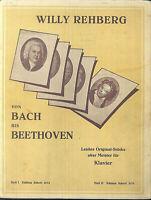 Willy Rehberg - Von BACH bis BEETHOVEN - Band 1 - Piano leicht