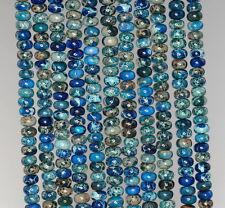 "4X2MM IMPERIAL JASPER GEMSTONE DARK BLUE RONDELLE LOOSE BEADS 15.5"""