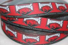 """Arkansas inspired 7/8"""" Grosgrain Ribbon - 6 Yards - USA Seller"""