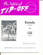 Jan 24 1970 Kentucky LSU Pete Maravich Basketball Program NBA1