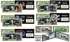 Space Shuttle Missions NASA Official Legal Tender U.S. $2 Bills - SET OF ALL 6