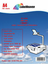 100  OHP Folien Kopierfolie Kopierfolien Overheadfolie für Tintenstrahldrucker