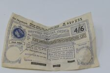 More details for british postal order four shillings and sixpence 4/6