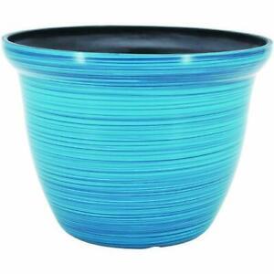 "Galena BLUE 7"" Diamater 5.5"" Height Resin Garden Planter Flower Pot"