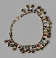 One Metal Gold Coloured Indian Made Anklet with Lots of Bells! (AK21)