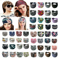 Women Girls Bohomia Hair Bands Print Headband Cross Turban Hair Accessories 1pc