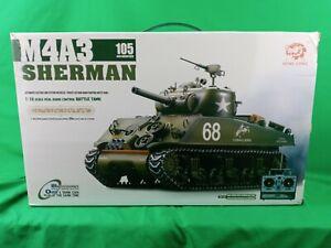 2.4G Henglong 1/16 Scale RC Tank 6.0 Plastic Version M4A3 Sherman 3898 RTR Model