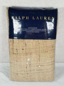 Ralph Lauren Cecily Keeton Tan European Sham 100% Silk Cover NWT MSRP $285
