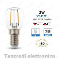 Lampadina led V-TAC 2W = 25W E14 bianco naturale 4500K VT-1952 ST26 filamento