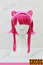 League of Legends Annie Cosplay wig costume Pink Colour + Headband S08