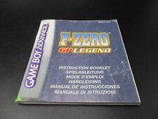 F Zero GP Legend Game Boy Advance Spielanleitung Anleitung Manual