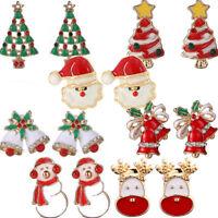 1 Coppia orecchini natalizi orecchino bigiotteria Albero Babbo Natale Pupazzo