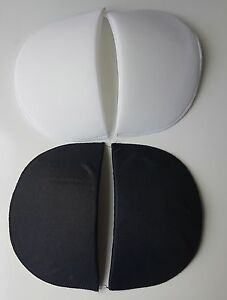 ONE PAIR OF DRESSMAKING SEWING  SHOULDER PADS-SMALL/MEDIUM/LARGE-BLACK OR WHITE