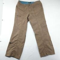 Eddie Bauer Women's Pants Khaki Cargo Ripstop Vashion Fit 12 Tan Brown Casual