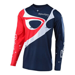 Troy Lee Designs TLD SE Pro Neptune Jersey Navy Red Riding Off Road MX Moto