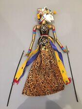 Vintage Wayang Doll Indonesian Wood Puppet Golek Asian Japanes Carved Painting