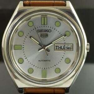 OLD VINTAGE SEIKO 5 AUTOMATIC 6309A JAPAN MENS DAY/DATE WATCH 474a-a238918-9