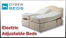 5FT KING SIZE ADJUSTABLE BED POCKET SPRUNG MATTRESS AND 4 DRAWERS-FREE DELIVERY