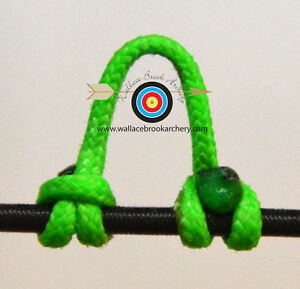 3 Pack Flo. Green Archery Release Bow String Nock D Loop Bowstring BCY #24