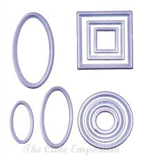 GEOMETRIC CUTTERS SET OF 10 SQUARE, ROUND & OVAL