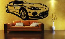 Sport Race Speed Car Motor Vehicle Mural  Wall Art Decor Vinyl Sticker z860