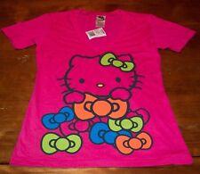 WOMEN'S TEEN Sanrio HELLO KITTY w/ BOWS T-shirt SMALL NEW w/ TAG