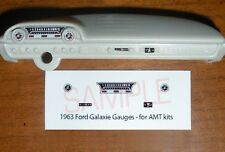 1963 FORD GALAXIE GAUGE FACES for 1/25 scale AMT KITS
