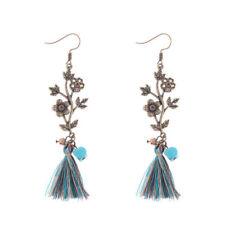 Alloy Earrings For Lady Dw-Eh-Hqe713 Fashion Elegant Leaf Pattern Tassel Bohemia