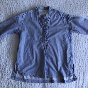 Muji Cotton Long Sleeve Loose Shirt Womans Small