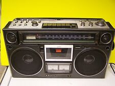 VINTAGE Sanyo Boombox M9994 CASSETTE PLAYER READY TO RESTORE
