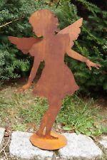 Dekostecker Gartenstecker  6 Engel   Figuren Metall Anthrazit