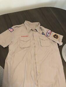 """Men's Boy Scout """"Assistant Den Leader Shirt Patches Connecticut XL"""