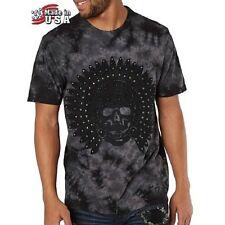 NWT AFFLICTION Black FREEDOM TRIBE Studded Short Sleeve T-Shirt Mens Large