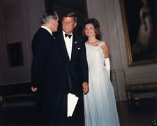 President and Mrs. John F. Kennedy with actor Fredric March New 8x10 Photo