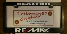 REMAX custom license plate frame realtor real estate NEW abs plastic