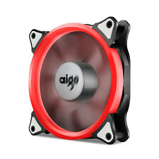 Aigo  RED Ring LED 120mm 12cm PC CPU Computer Case Cooling Neon Clear Fan Mod
