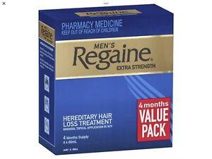 Regaine Men's Extra Strength Hair Regrowth Treatment 4 x 60mL 4 Month Supply